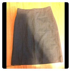 Banana Republic Pinstripe Bi-Stretch Pencil Skirt